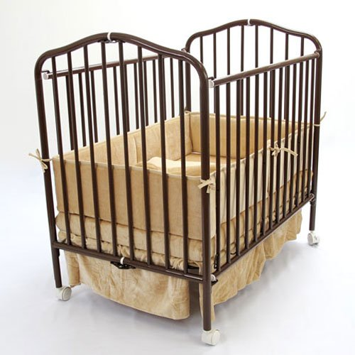 Compact Folding Metal Crib Finish