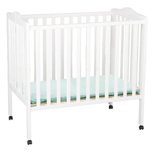 Delta Children Portable Mini Cribs, White