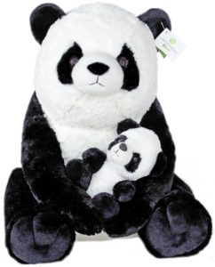 Exceptional Home Zoo 18- Inch Giant Panda With baby Panda Plush Toys