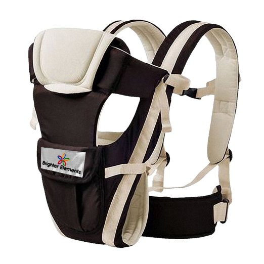 Baby Carrier By Brighter Elements- Best For Newborn, Infant, Toddler, & Child- 4 in 1- backpack, Front Facing, Kangaroo, & Sling Positions