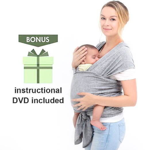 Innoo Tech Baby Sling Carrier Natural Cotton Nursing Baby Wrap Suitable For Newborns to 35 lbs Lifetime Guarantee Breastfeeding Baby Holder Soft Safe And Comfortable